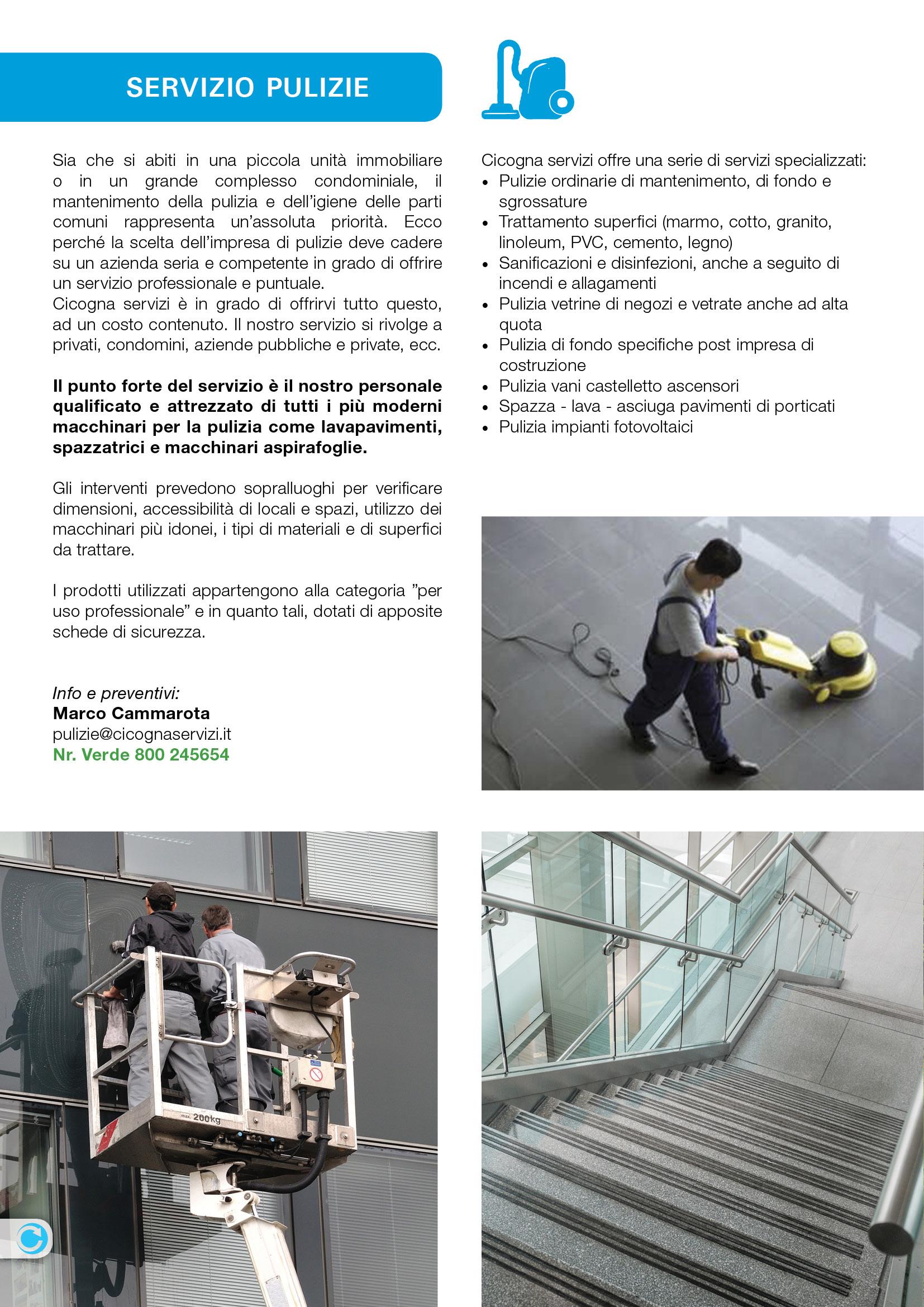 Brochure cicogna servizi 2015 samuele grassi for Clienti sinonimo
