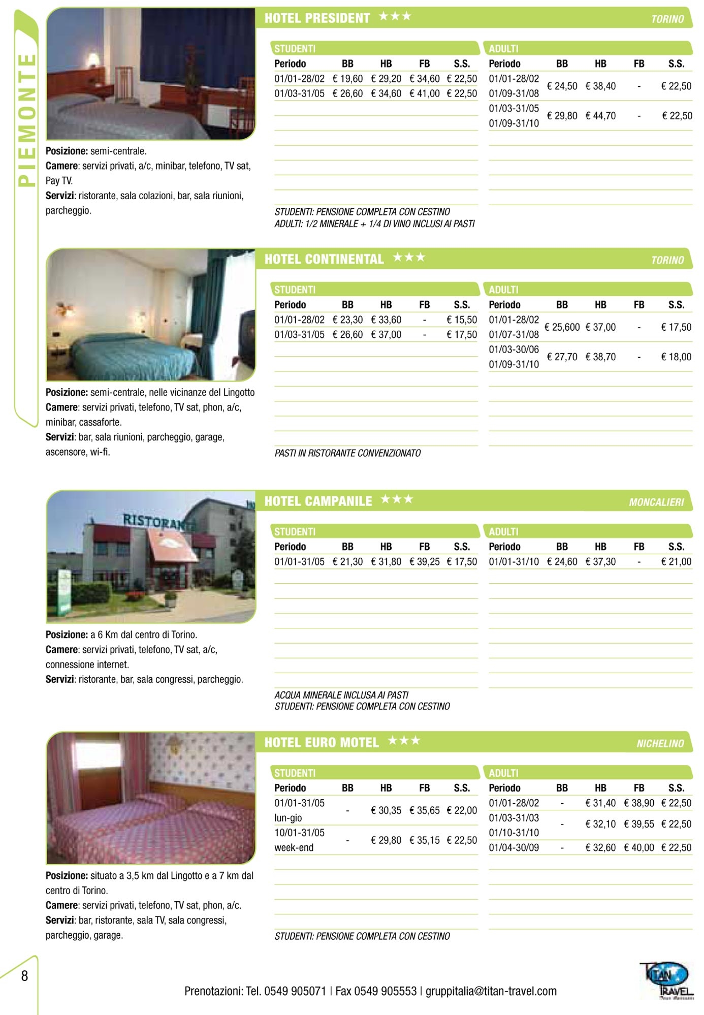 Catalogo titan travel 2011 samuele grassi for Clienti sinonimo
